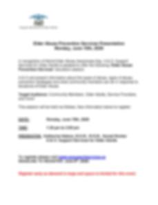 June 2020 Elder Abuse Prevention Session