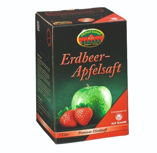 Erdbeer-Apfelsaft
