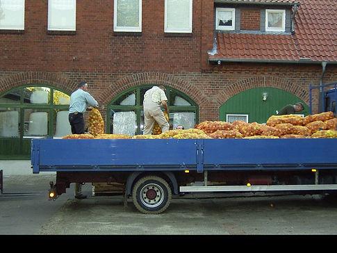 Großkunden Anlieferung auf LKW, gewerbliche kunden, Anlieferung, LKW, Obst Säcke, Äpfel, Lohnmosten, Mostn, eigener Saft,
