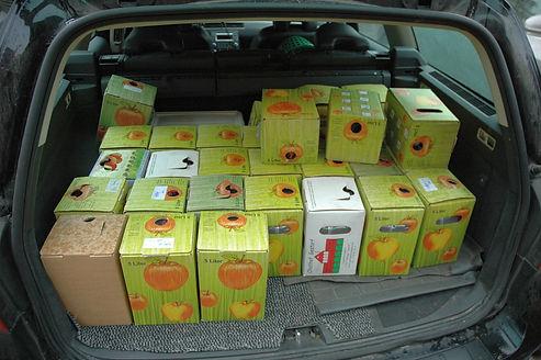 Fertiger Saft von Kunden, Saft abholung, Bag in Box, Lohnmosten, eigener Saft,