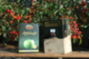 Obsthof Gestorf, Fruchtsaft, Apfelsaft, Bag in Box, Saftkarton, Saftboxständer, Zapfhahn