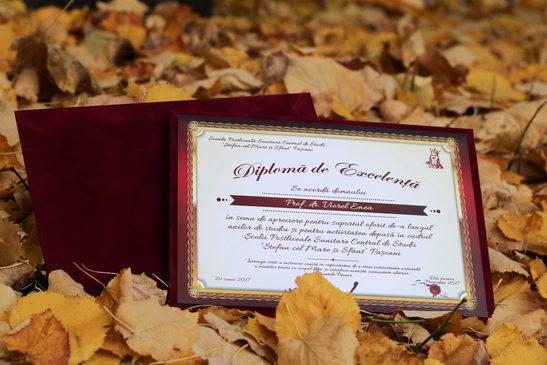 Diplome personalizate pe suport de catifea