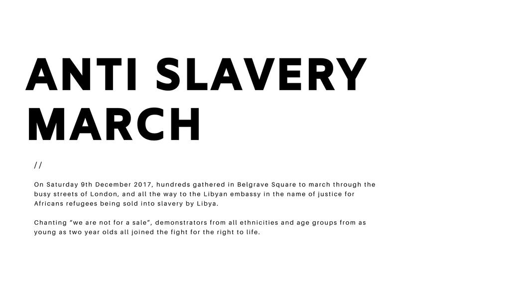 Anti Slavery March