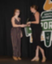 Ava ter Horst accepting from Kelly Synot