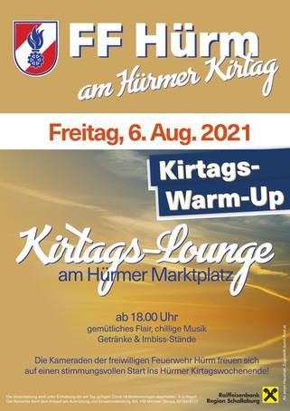 Kirtags-Lounge am Freitag den 6. August 2021