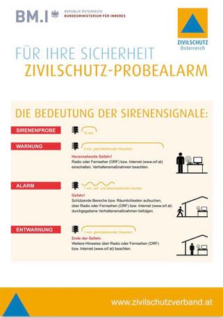 Zivilschutz Probealarm