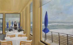 Ostia Beach, tempera grassa on linen, cm