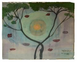 L'albero delle bocche Acquerello su carta velina cm48x61