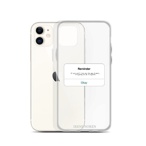 Reminder iPhone case