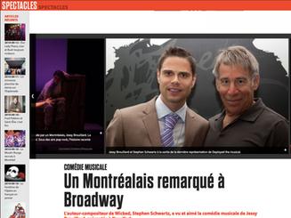 La comédie musicale Deployed, du Montréalais Jessy Brouillard, a retenu l'attention d'une sommité de Broadway, Stephen Schwartz, l'homme à l'origine de Wicked.