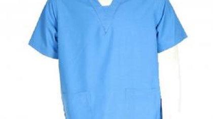 Surgeon Scrubs Top - Light Blue