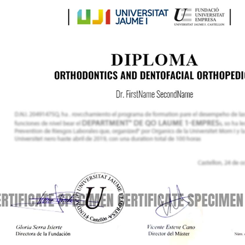 Orthodontics and Dentofacial Orthopedics leading to University Diploma