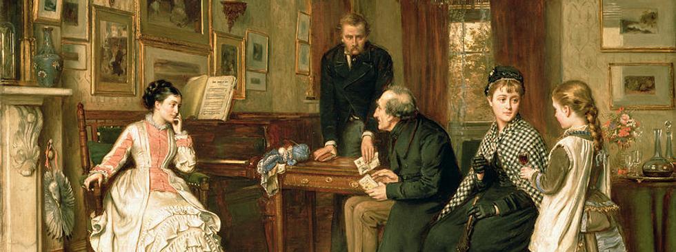 Poor Relations by George Goodwin Kilburne (Walker Art Gallery)