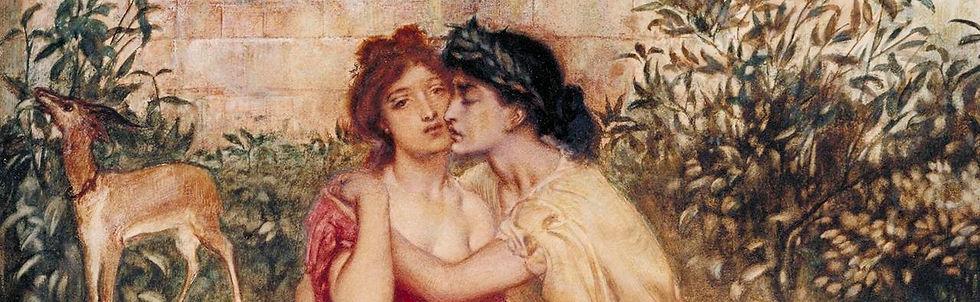 Sappho and Erinn in a Garden at Mytilene by Simeon Solomon (Tate Gallery)