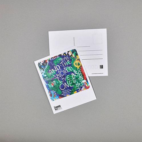 Postcard - World live as one