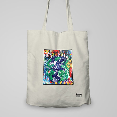 Tote bag - World lives as one