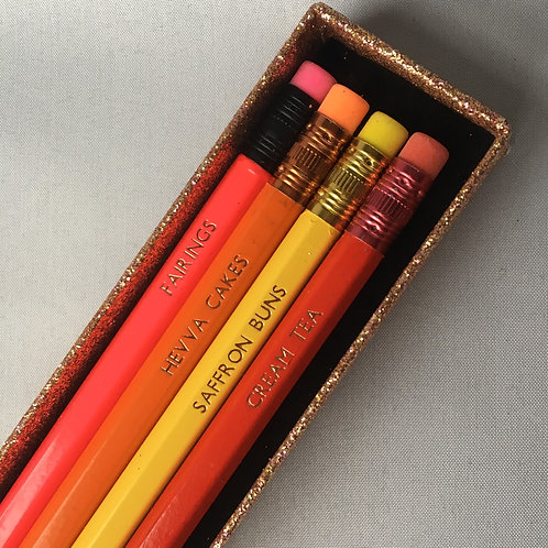 Cornish Bakery Pencil Box Set