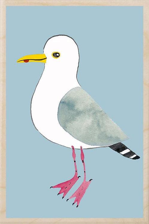 Wooden Postcard - Herring Gull