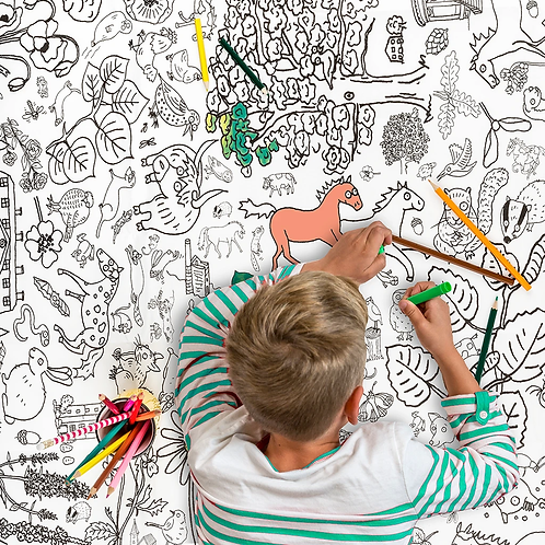 Countryside Giant Colouring In Tablecloth/Poster
