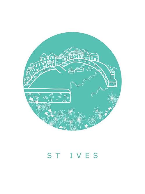 St Ives A4 Print