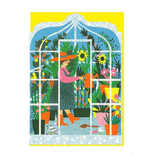Greenhouse Die Cut Card