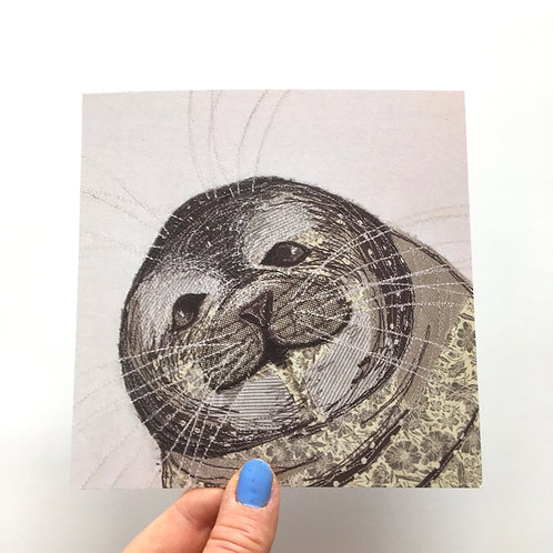 Cheeky Seal Card