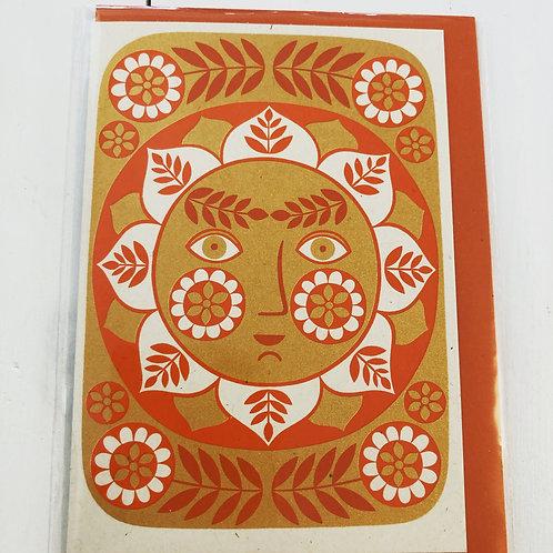Sun - Screen Printed Card