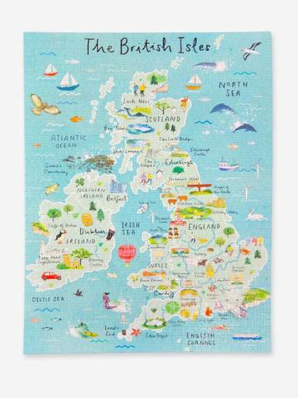 British Isles Jigsaw Puzzle 1000 pieces