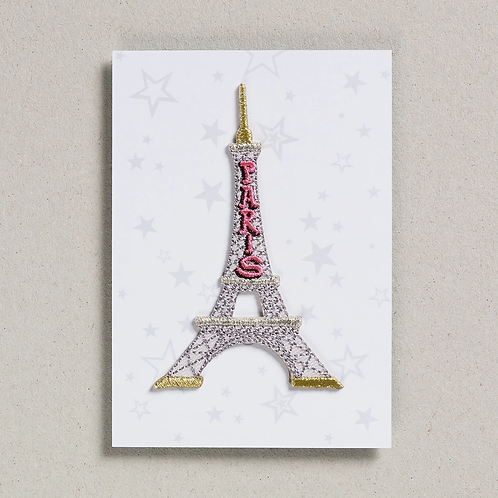 Iron on Patch - Eiffel Tower