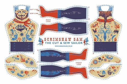 Scrimshaw Sam theSailor - Tea Towel/Sewing Kit