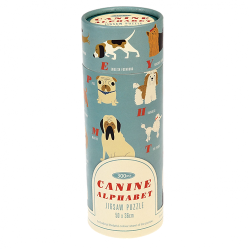 Canine Alphabet 300 Piece Puzzle In A Tube
