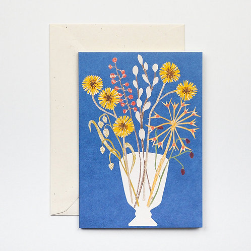 Glass Vase Greetings Card