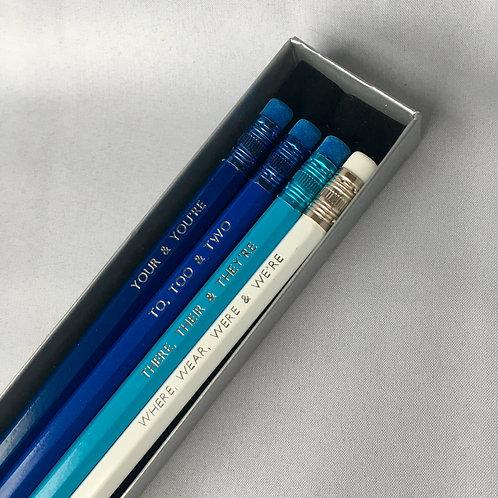 Blue Grammar Pencil Box Set