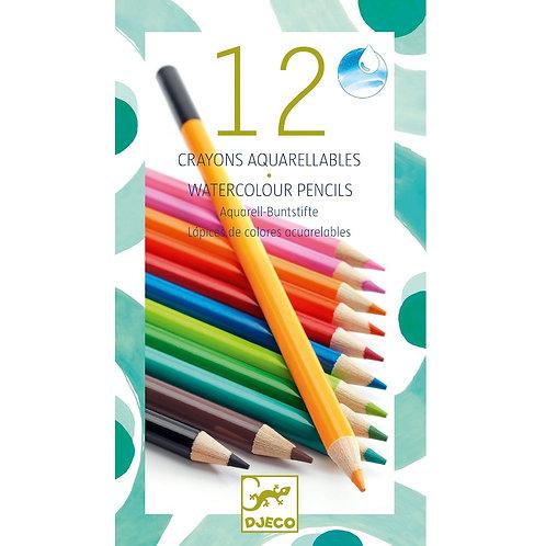 DJECO Twelve Watercolour Pencils