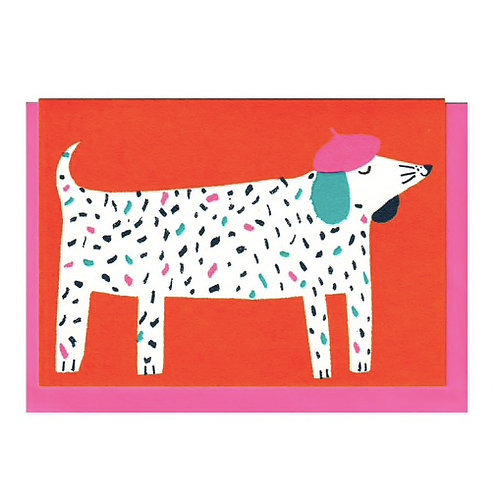 Dog in Hat Card