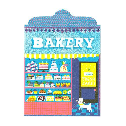 Bakery Shop Die Cut Card