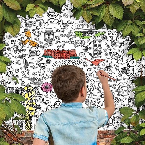Secret Garden Giant Colouring In Tablecloth/Poster
