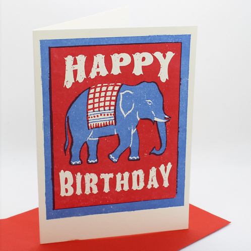 Happy Birthday Elephant Card