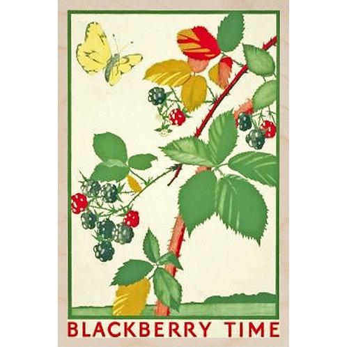 BlackberryTime - Wooden Postcard