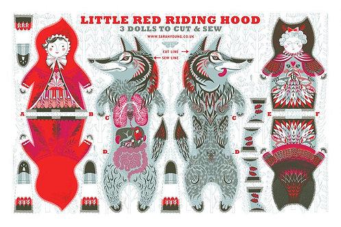 Little Red Riding Hood Tea Towel/Fabric Kit