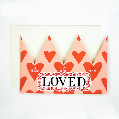Loved Party Hat Card