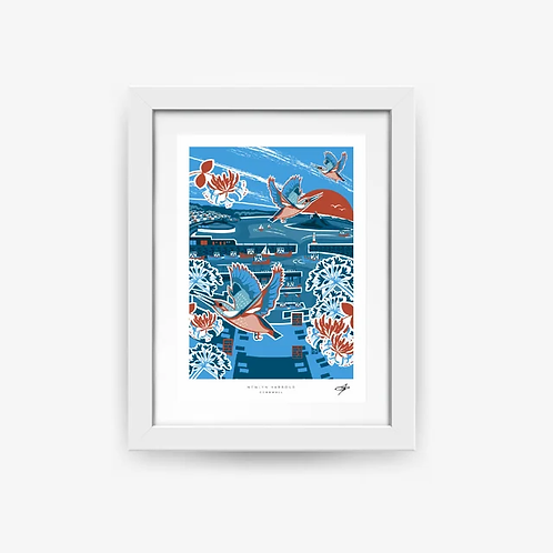 Newlyn Harbour A4 Print
