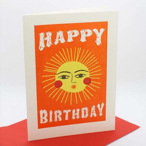 Happy Birthday Sun Card