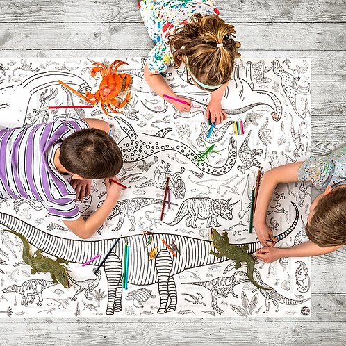 Dinosaur Giant Colouring In Tablecloth/Poster