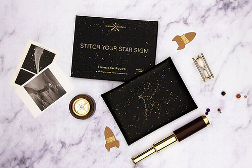 Stitch Your Star Sign Envelope Pouch