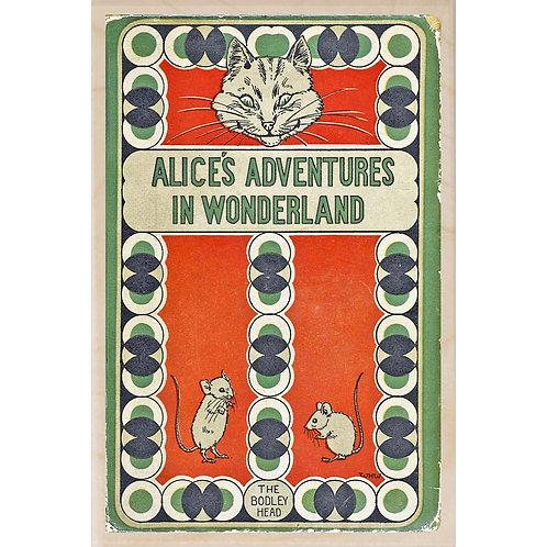Alice in Wonderland Book Cover - Wooden Postcard