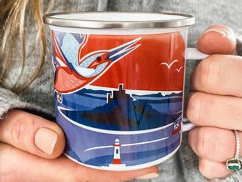 Newlyn Harbour Enamel Mug