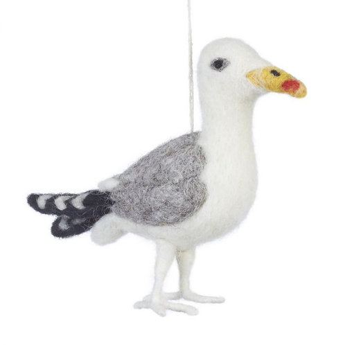 Felted Seagull Decoration