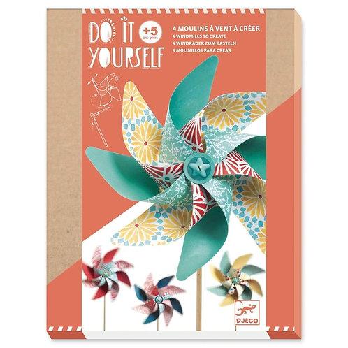 DJECO Do It Yourself Windmills Kit