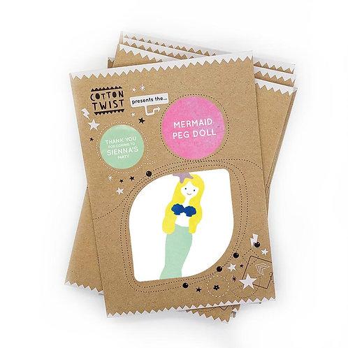 Mermaid Peg Doll Kit